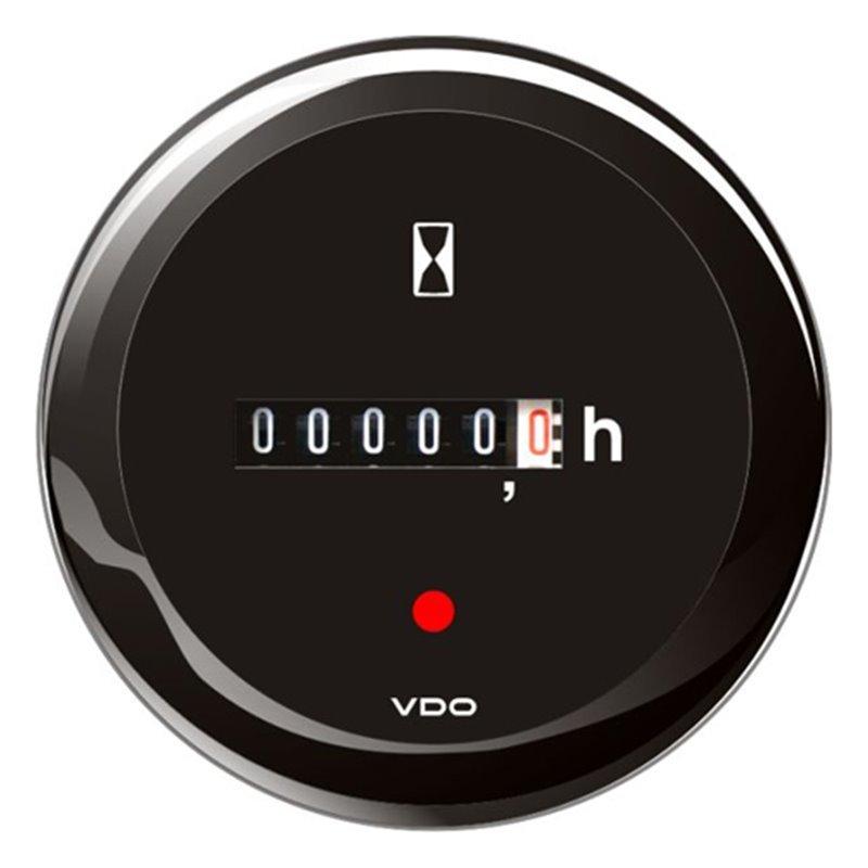 VDO ViewLine Betriebsstundenzähler Schwarz 52mm