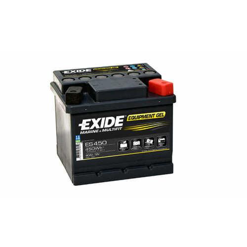 Schwarz EXIDE ES450 GEL Versorgungsbatterie