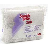 3M Scotch-Brite™ Handpad 350, Weiß, 95 mm x 158 mm