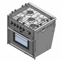 Force 10 Kocher mit Backofen 5-flammig